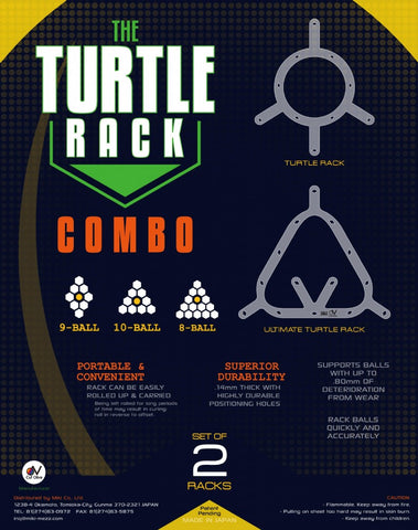Turtle Rack Sheet - Combo - Excellence Billiards NZL