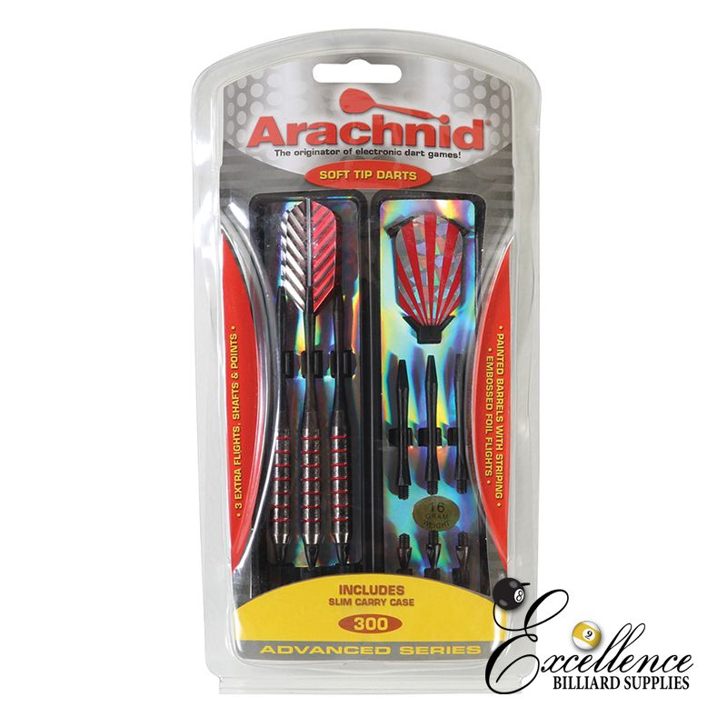 Arachnid 300 Soft Dart Set - Excellence Billiards NZL