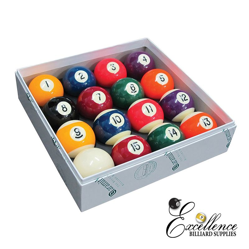 "2"" Aramith Standard Pool Balls - Excellence Billiards NZL"