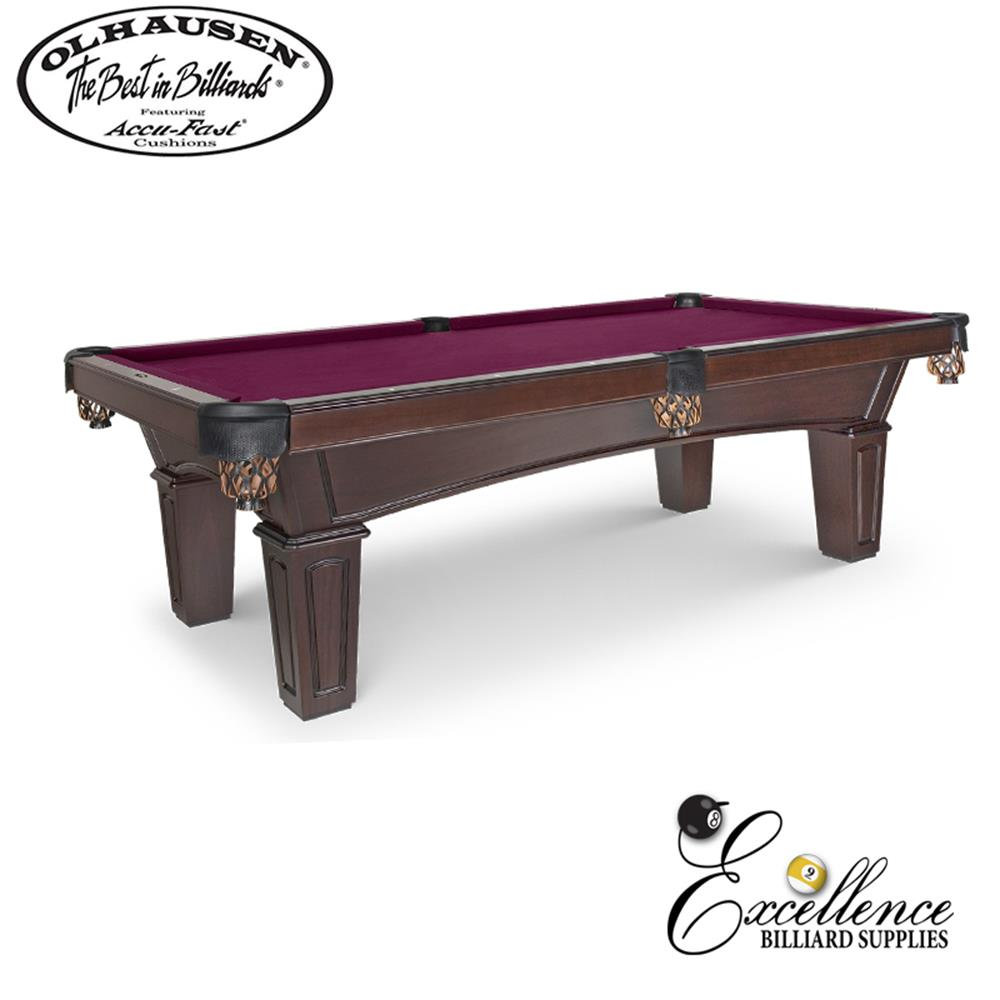 Olhausen Pool Table Belmont - Tulip/Popular 8' - Excellence Billiards NZL