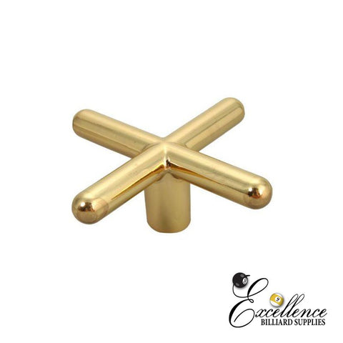 Brass Bridge/Rest Head -  Cross - Excellence Billiards NZL