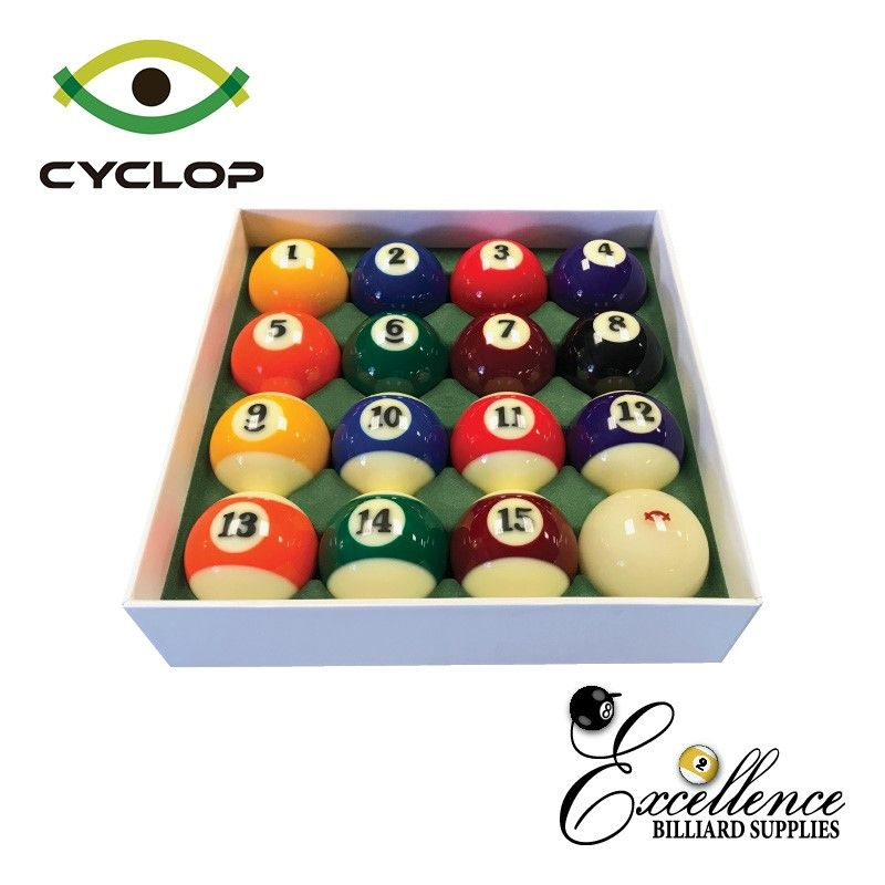 "2 1/4"" Cyclop ARES Pool Balls - Excellence Billiards NZL"
