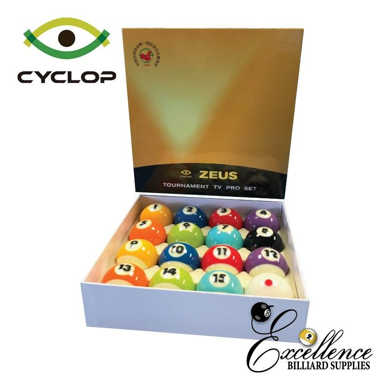 "2 1/4"" Cyclop ZEUS TV Edition Pool Balls"