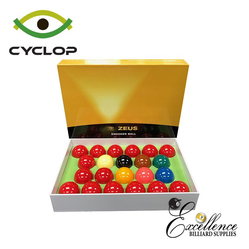 "2 1/16"" Cyclop Zeus Snooker Balls - Excellence Billiards NZL"