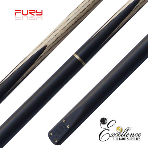 "FURY (D-1B) 57""2-PC(3/4)ASH SNOOKER CUE - Excellence Billiards"