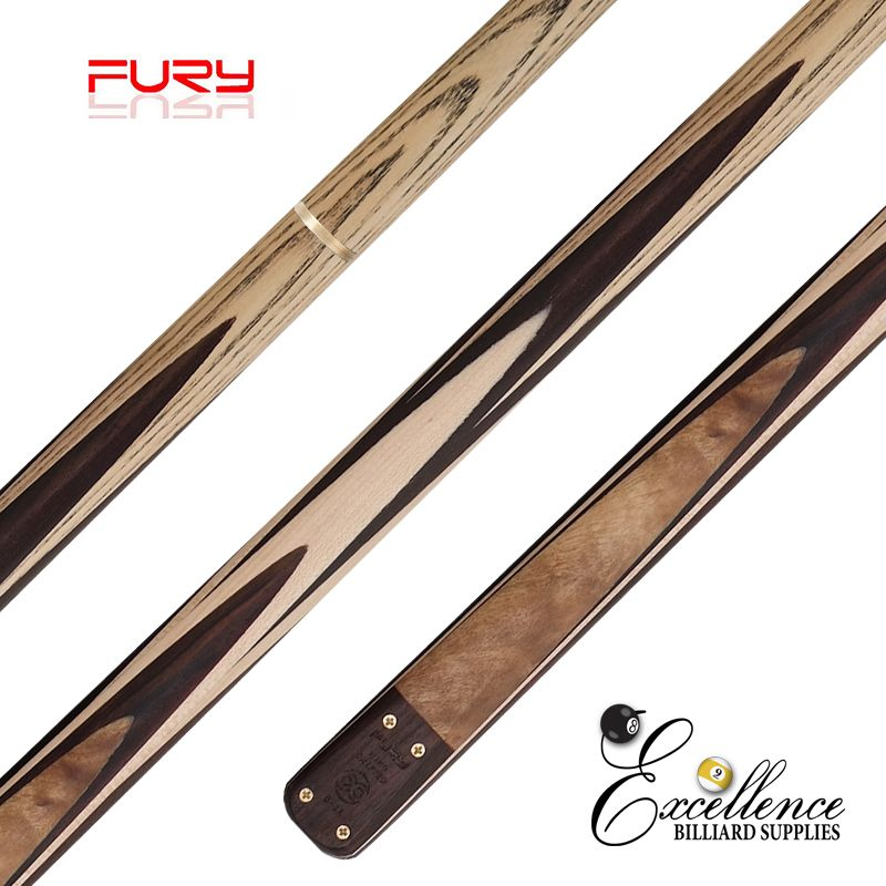 "FURY (D-6B) 57""2-PC(3/4)ASH SNOOKER CUE - Excellence Billiards"