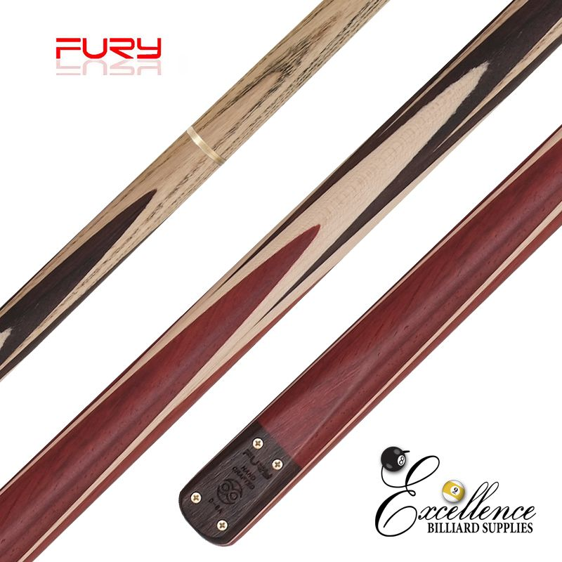 "FURY (D-8B) 57""2-PC(3/4)ASH SNOOKER CUE - Excellence Billiards"