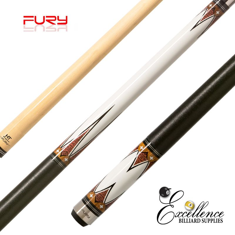 "FURY (DE-3) 58"" 2-PC POOL CUE"