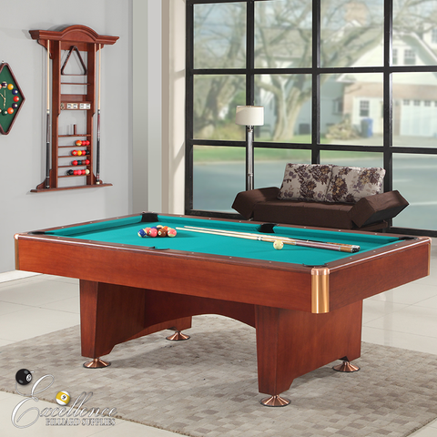 Striker Pool Table - Mahogany - Excellence Billiards NZL