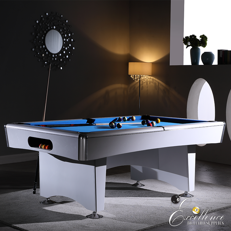 Striker 7' Pool Table - White - Excellence Billiards NZL
