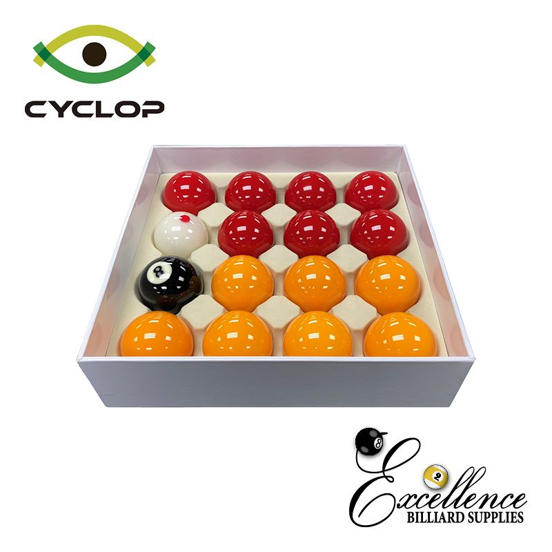 Cyclop English Pool Balls - Yellow Reds