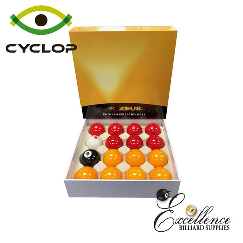 Cyclop Zeus English Pool Balls - Yellow Reds
