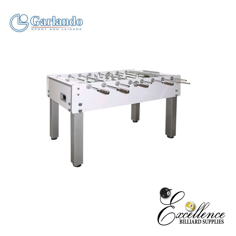 "Garlando Foosball Table ""G500 Pure White"" - Excellence Billiards NZL"