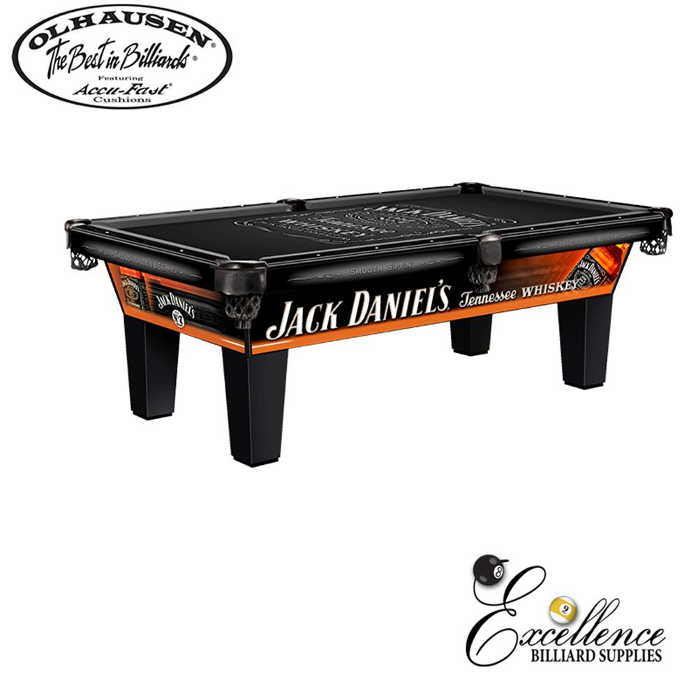 Olhausen Pool Table Jack Daniels Logo - Excellence Billiards NZL