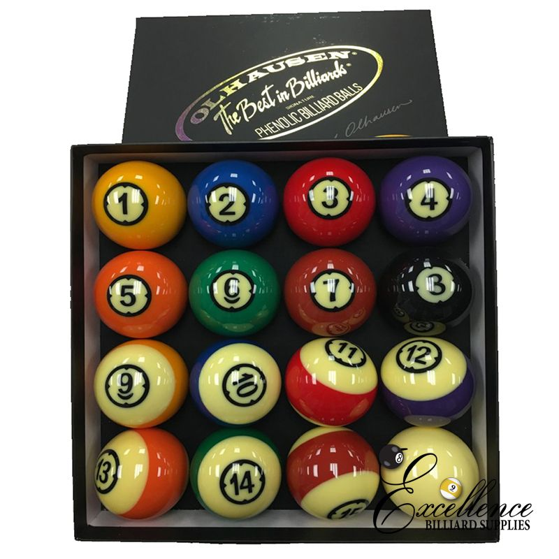 "2 1/4"" Olhausen Signature Pool Balls - Excellence Billiards NZL"