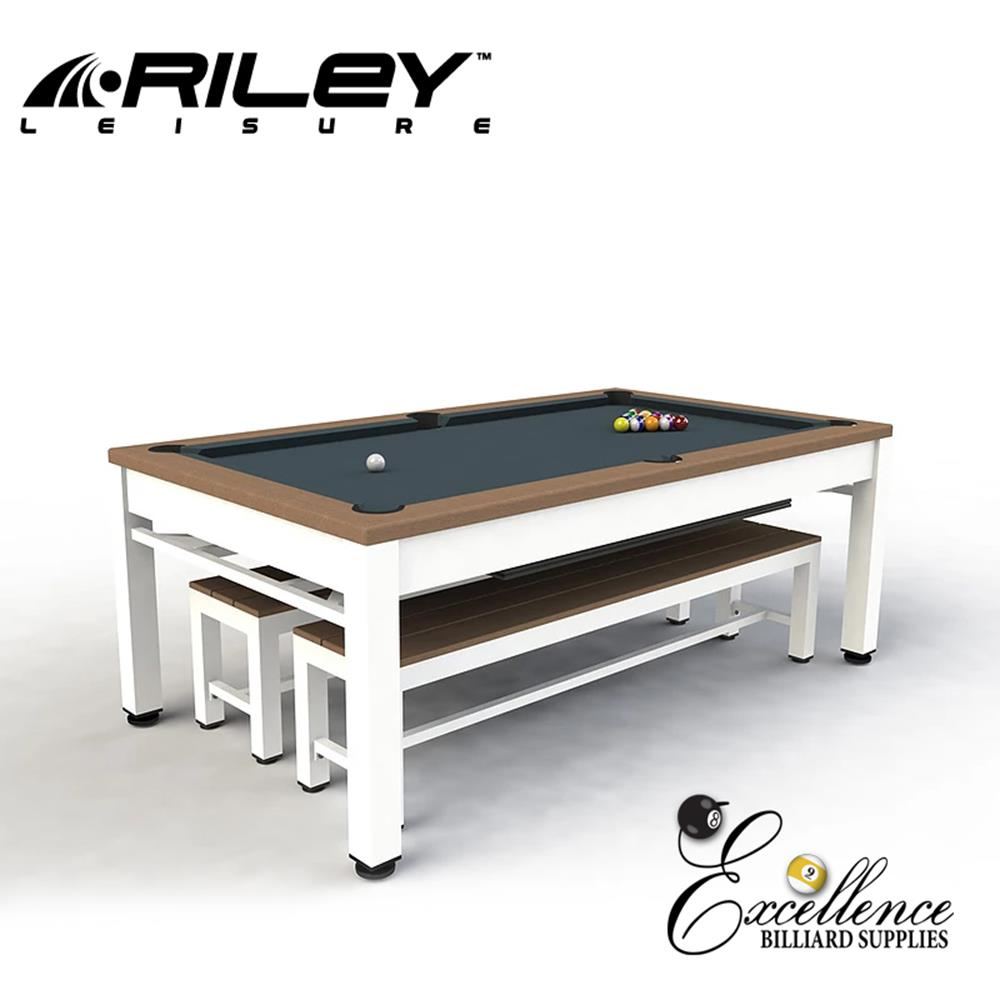 Riley Neptune Outdoor Diner - White & Tan - Excellence Billiards