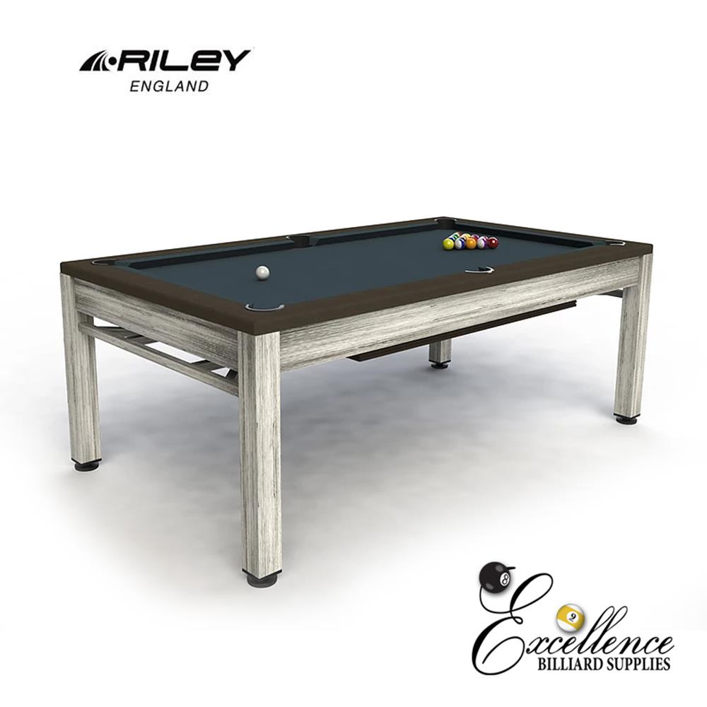 Riley Neptune Outdoor Diner - Brushed Grey & Brown - Excellence Billiards NZL