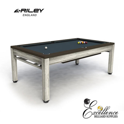 Riley Neptune Outdoor Diner - Brushed Grey & Brown - Excellence Billiards