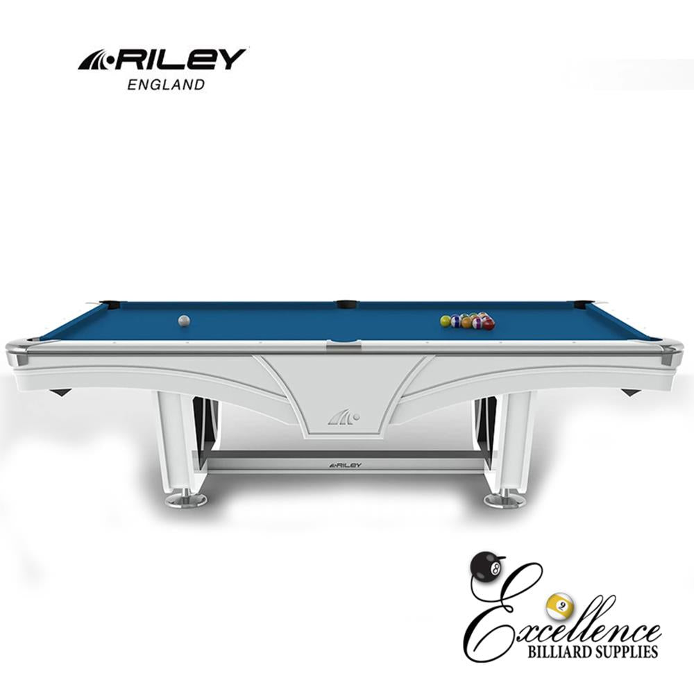 Riley Pool Table - Ray Tournament (White) - Excellence Billiards NZL
