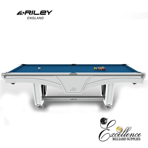 Riley Pool Table - Ray Tournament (White) - Excellence Billiards