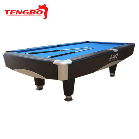Tengbo 9' Pool Table Metro Black - EX Pool Room