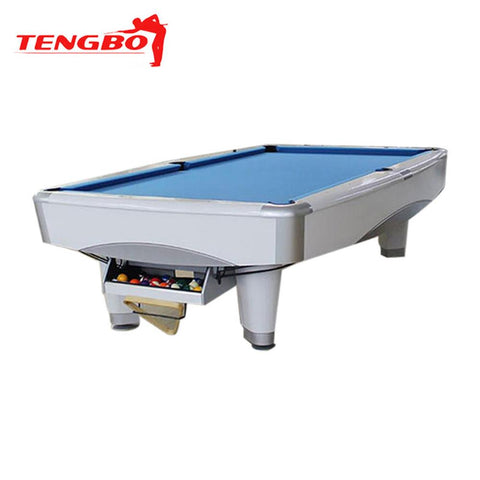 Tengbo 9' Pool Table Metro White - EX Pool Room