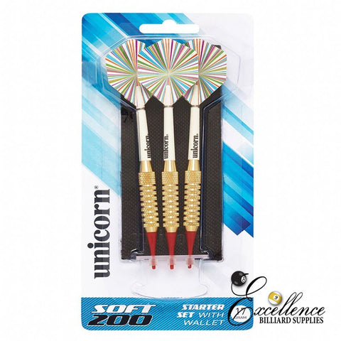 Unicorn Soft 200 Dart Set - Excellence Billiards NZL