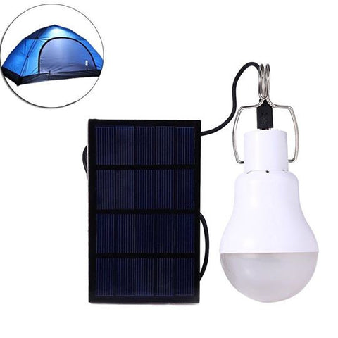 Solar Powered 15w Portable Led Bulb Lamp (including Solar Plate And Battery)