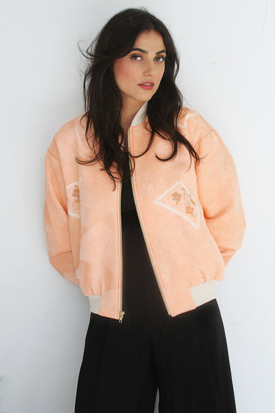 Chiara Bomber in Peach