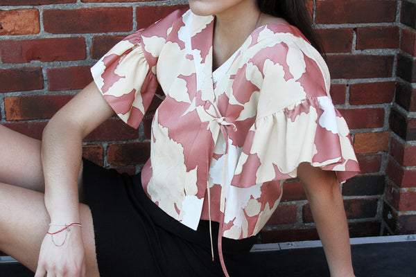 Kimono Top in Large Flower