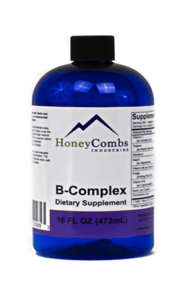 B-Complex with Vitamin C by HoneyCombs Industries - 16 fl oz
