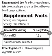 L-Lysine by Designs for Health, 120 Capsules