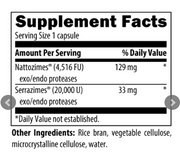 Natto-Serrazime™ by Designs for Health, 120 Vegetarian Capsules