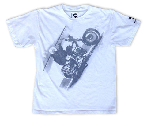 "KINGSLEY ""BOBBER"" BOYS T-SHIRT (WHITE) - Kingsley Clothing"