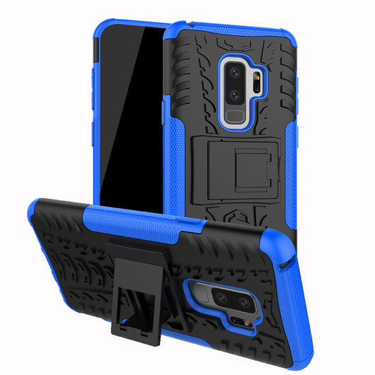 cheap for discount a90a2 cdeda Samsung Galaxy S9/S9 Plus Shockproof Hybrid Protective Armor Kick Stand Case
