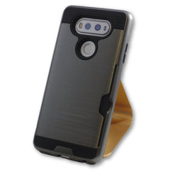 LG V20 Gun Metal Grey Armor Card Slot Case
