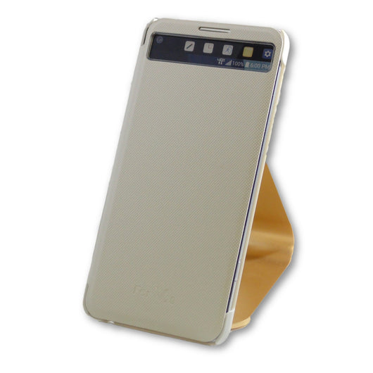 LG V20 Pearl White Quick Cover Folio Flip Case-FlagshipsGear