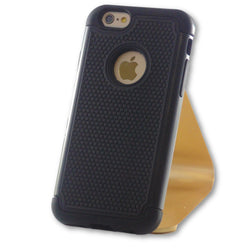 iPhone 6/6S Black Hybrid Tough Armor Case-FlagshipsGear