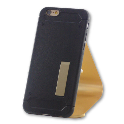 iPhone 6/6S Black Slim Kick Stand TPU Case-FlagshipsGear