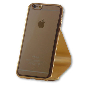 Mobile Phone Case - IPhone 6/6S Gold Clear Silicone Case