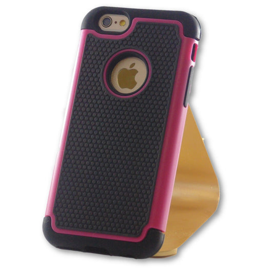 iPhone 6/6S Hot Pink Hybrid Tough Armor Case-FlagshipsGear
