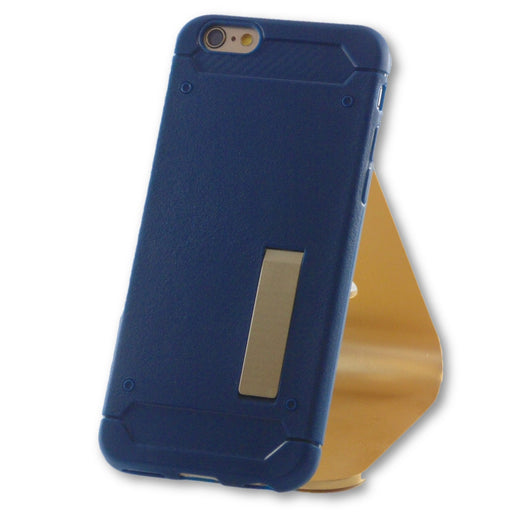 iPhone 6/6S Navy Blue Slim Kick Stand TPU Case-FlagshipsGear