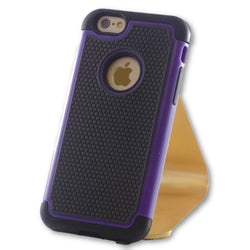 iPhone 6/6S Purple Hybrid Tough Armor Case-FlagshipsGear