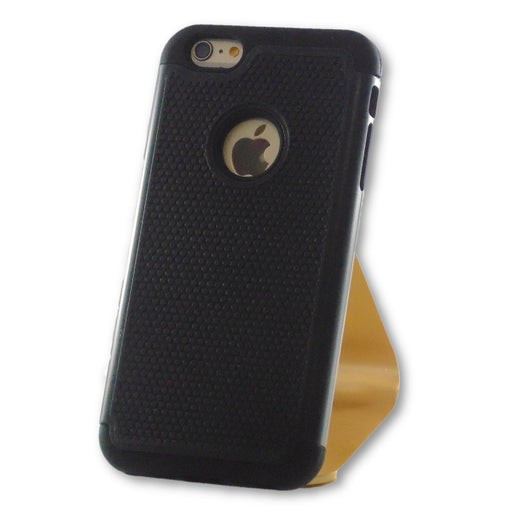 iPhone 6 Plus/6S Plus Black Hybrid Tough Armor Case-FlagshipsGear