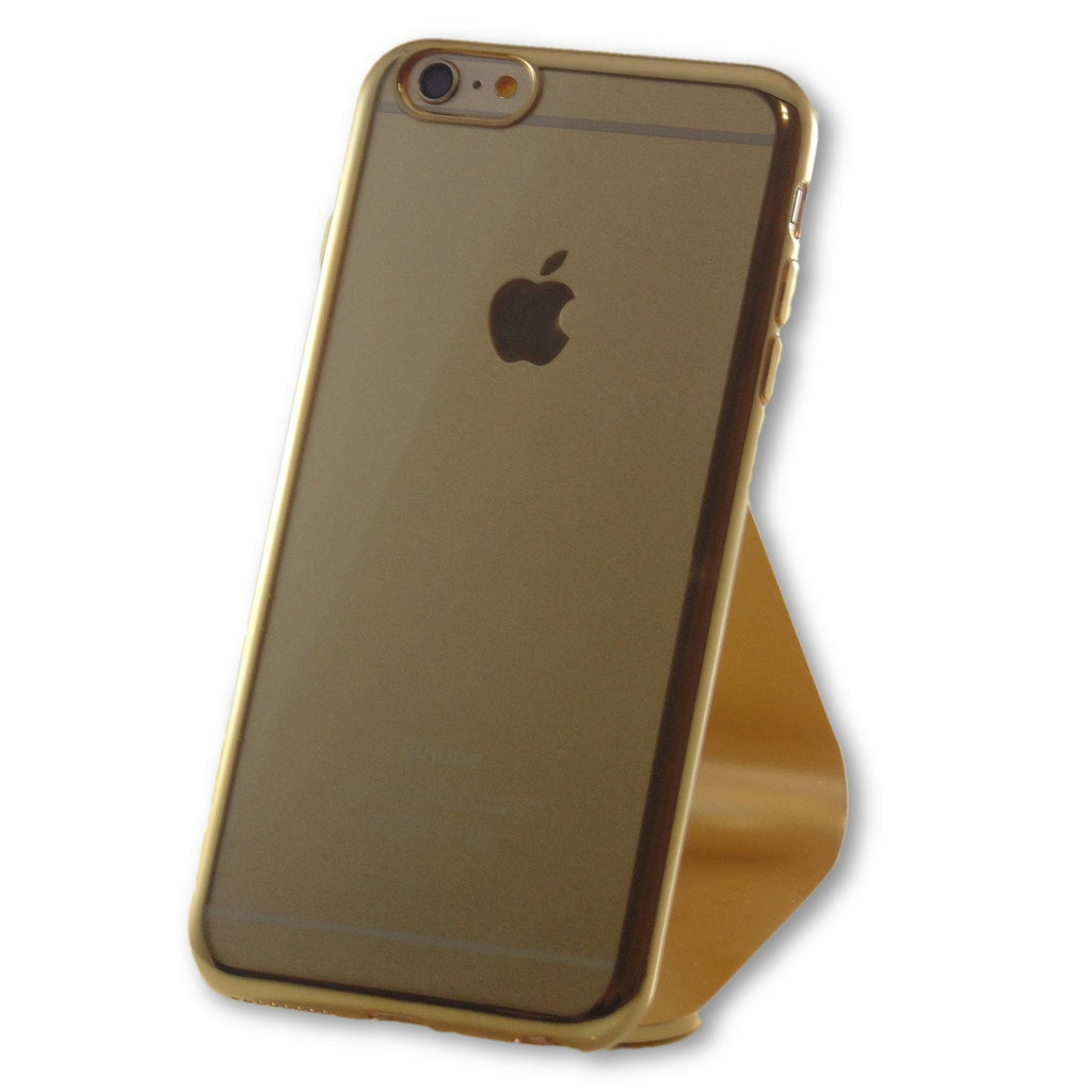 best loved ebce1 aeb1e iPhone 6 Plus/6S Plus Gold Clear Silicone Case