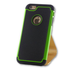 iPhone 6 Plus/6S Plus Green Hybrid Tough Armor Case-FlagshipsGear