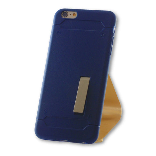 iPhone 6 Plus/6S Plus Navy Blue Slim Kick Stand TPU Case-FlagshipsGear
