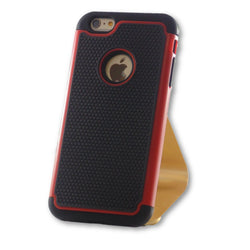 iPhone 6 Plus/6S Plus Red Hybrid Tough Armor Case-FlagshipsGear