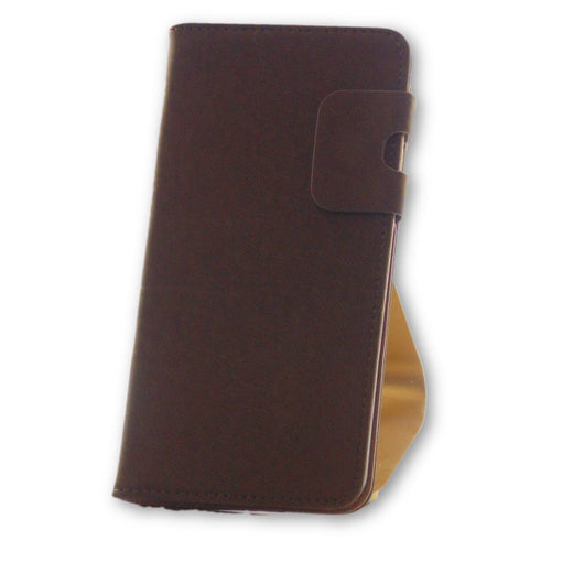 iPhone 7 Plus Brown Suede Leather Wallet Folio Flip Case-FlagshipsGear