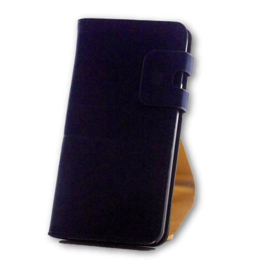 iPhone 7 Plus Navy Blue Suede Leather Wallet Folio Flip Case-FlagshipsGear